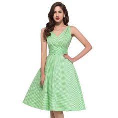 Women Style Robe Vintage Polka Dot Dresses Sleeveless Club Party Clothing N/a