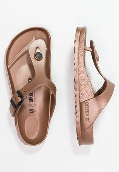 Birkenstock GIZEH - Pool shoes - metallic copper - Zalando.co.uk