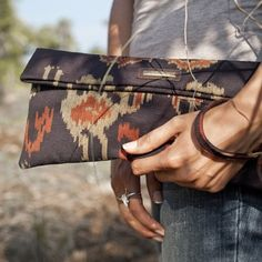 Ikat Clutch by Pantheia on Opensky