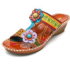 0b91f1fbce6 SOCOFY Bohemian Handmade Genuine Leather Shoe Hook Loop Soft Sandals