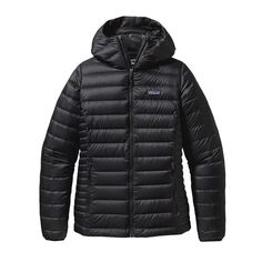 Patagonia down sweater hoody NWT women's down sweater hoody from Patagonia! Insulated to keep you warm and so cute. Classic black goes with everything! Patagonia Jackets & Coats