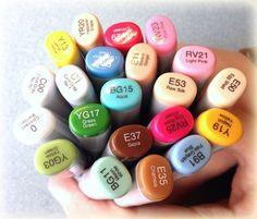 Debbie Designs Copic Marker samples and tutorials