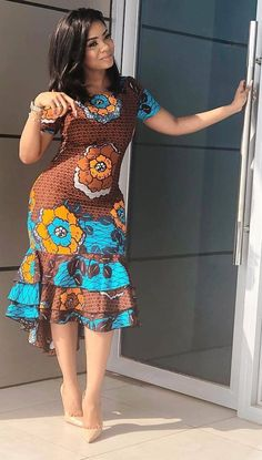 African fashion modern - Newest Short Ankara Gown 2019 – African fashion m. - Women's style: Patterns of sustainability Short African Dresses, Latest African Fashion Dresses, African Print Dresses, African Print Fashion, Africa Fashion, African Prints, African Dress Styles, African Dress Designs, Ankara Designs
