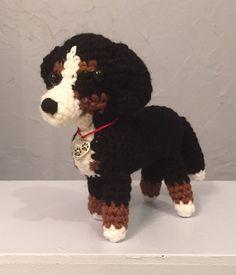 Crocheted Bernese Mountain Dog Amigurumi Amigurumi by meddywv