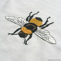 BEE-- Incredible hand embroidery work by Yumiko Higuchi