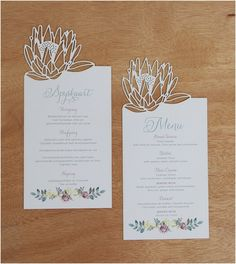 oulike plaas troue voorgereg - Google Search Protea Wedding, Bush Wedding, Wedding Table, Wedding Flowers, Wedding Cards, Wedding Themes, Wedding Decorations, Wedding Ideas, Wedding Dresses