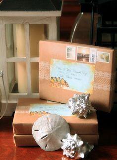 Diy Boxed Wedding Invitations For A Beach