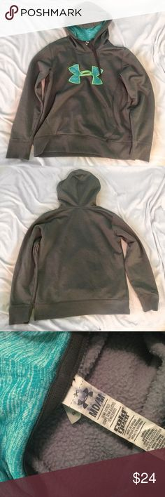 Under Armour grey and blue hoodie Super comfortable blue and gray Under Armour hoodie. In good condition. Under Armour Jackets & Coats