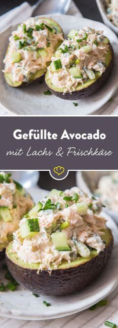 As a creamy filling in the middle of a halved avocado, salmon, cucumber, creamy cream cheese, some horseradish and chives are an unbeatable team. Informations About Schnell ausgelöffelt: Gefüllte Avocado mit Lachs-Gurken-Creme Pin You can … Low Carb Recipes, Vegetarian Recipes, Healthy Recipes, Avocado Recipes, Salmon Recipes, Vegan Smoothies, Smoothie Recipes, Avocado Dessert, Health Snacks