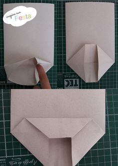 How to make paper bag? In this post I teach how to chow to do an paper shopping bags easy and fast. Glue Crafts, Diy And Crafts, Paper Crafts, How To Make A Gift Bag, Origami Bag, Gift Wraping, Diy Envelope, Diy Gift Box, Simple Bags