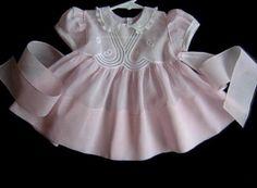 Vintage pink baby dress,1950's.