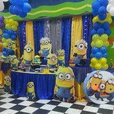 decoracion minions cumpleaños - Buscar con Google