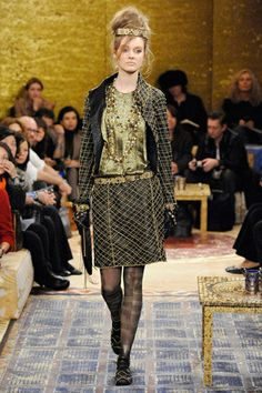 Chanel Pre-Fall 2011 Chain Detailed Leather Skirt