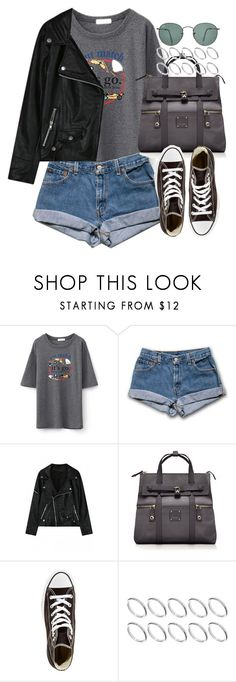 """Untitled #3374"" by hellomissapple ❤ liked on Polyvore featuring Henri Bendel, Converse, ASOS, Ray-Ban and bhalo"