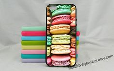 Cute Macaron  iphone case,Iphone 5/5s,Iphone 4/4s,paris iphone case,gift for girl,girly ,pink,pastel,Samsung Galaxy S5,iphone 5c,Colorful