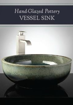 This Hand-Glazed Ceramic Vessel Sink is a truly stunning addition to your bathroom.