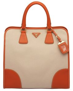 Prada Saffiano Calf Leather and Hemp Tote bag ($1,370) from the Spring/Summer 2012 Collection.