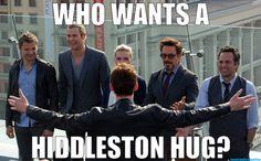 Me! Me! (I'm not picky, I'll take a hug from any of the guys) :D :D