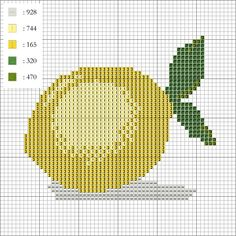 Free Cross Stitch Patterns & Charts by DoveStitch Cross Stitch Fruit, Cross Stitch Kitchen, Beaded Cross Stitch, Cross Stitch Embroidery, Free Cross Stitch Charts, Counted Cross Stitch Patterns, Cross Stitch Designs, Diy Perler Beads, Hand Embroidery Patterns