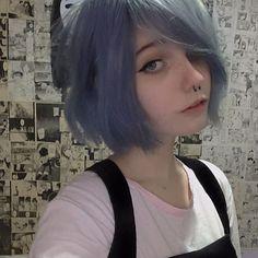 new ideas for hair short anime girl tomboy Pelo Ulzzang, Ulzzang Girl, Emo Girls, Cute Girls, Suicide Girls, Aesthetic Girl, Alien Aesthetic, Kawaii Girl, Tumblr Girls