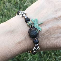 Aromatherapy Bracelet with the sweetest little dragonfly!