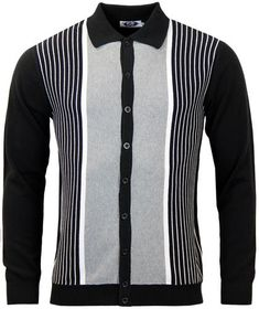 BROOKLYN Mens Premium Classic Diamond Vintage Style Cardigan Zip Button Fasten