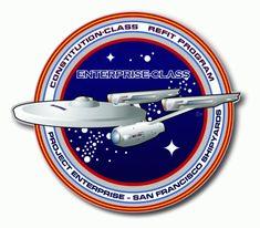 Starfleet Insignia for Constitution-class (refit) starship Star Trek Enterprise, Uss Enterprise Ncc 1701, Star Trek Starships, Star Trek Fleet, Star Trek Gif, Star Trek Show, Star Wars, Scotty Star Trek, Star Trek Insignia