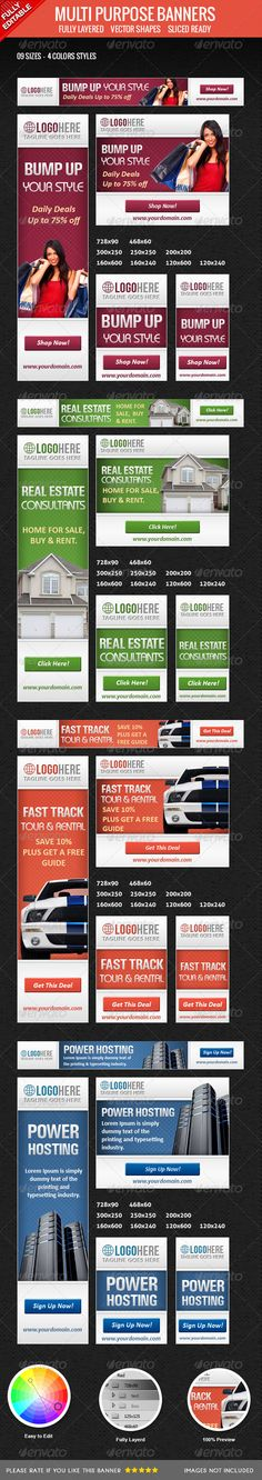 Construction Banners Template PSD Download here   - car ad template