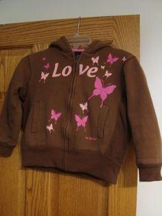Girls GAP Kids Hoodie Jacket Top Pink Sequin Navy Winter Logo Hooded Sporty 4-5