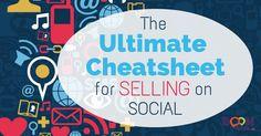 The ultimate cheat sheet for selling on #socialmedia. Thanks Kim Garst!  #SocialMediaSelling