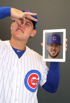 The reigning World Series champs are working hard in preparation to defend their title, but that doesn't mean they can't have a little fun during spring training. Team Photos, Sports Photos, Cubs Pictures, Cub Sport, Cubs Win, Go Cubs Go, Chicago Cubs Baseball, Spring Training, National League