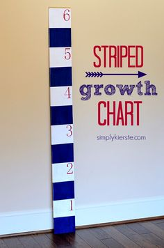 Striped Growth Chart!! Super easy, and SO cute!  #simplykierste #FrogTapeProjects #FallPaintSeason  {simplykierste.com}