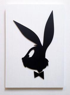 Bugs Bunny Clásicos dibujos animados rediseñados sobre famosos logotipos