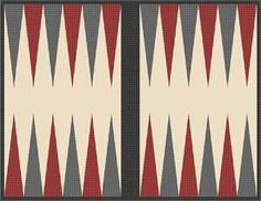 I'm making a backgammon table and will needlepoint the board.