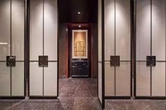 FROSTED GLASS DOORS. Interior And Exterior, Frosted Glass Door, Door Handles, Chic Interior, Doors Interior, Chinese Style Interior, Wall Paneling, Wall Design, Door Frame Molding