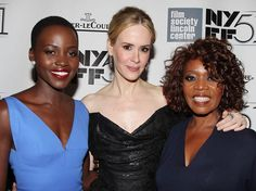 | NYFF | Lupita Nyong'o, Sarah Paulson, and Alfre Woodard on the carpet at the New York Film Festival's screening of 12 YEARS A SLAVE
