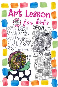 Art Lesson: Snazzy Snail Art Game | Art Sub Plans  Super fun art lesson with language activities. Fill up your art sub tub with no-prep art projects. These are easy to implement for substitute teachers. Plus, the engagement will help with behavior! Perfect for art integration, writing prompts, homeschooling, and art teachers looking for fun mini-lessons. Great for language arts teachers as well. This resource is adaptable across multiple grade levels.