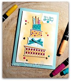Fun and Funky Birthday card using Cake Crazy - Leonie Schroder Independent Stampin' Up! Demonstrator Australia