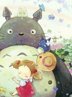 Totoro hug