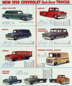 1956 Chevrolet Trucks Ad.
