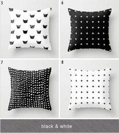 modern/black & white throw pillow faves.