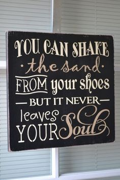 You Can Shake The Sand From Your Shoes But It by CreativeTouchWood, $22.95