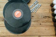 DIY Guest Book - Records - Vinyl Signing Book - Photography by Kim Cartmell