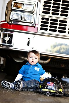 childrens photography at fire station