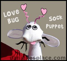 Love Bug Valentine's Day Puppet from www.daniellesplace.com
