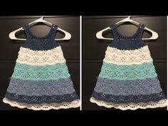 Crochet Girls, Crochet Baby, Crop Top Pattern, Crochet Crop Top, Baby Dress, Free Pattern, Girls Dresses, Videos, Fashion
