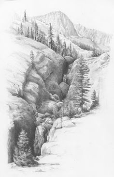 pencil lanscape tutorial     http://dwrightart.blogspot.com/search?updated-max=2010-05-22T07:41:00-05:00&max-results=7