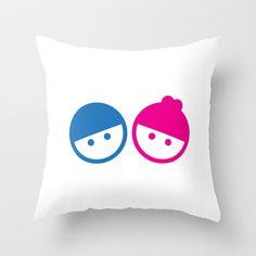 #Boy & #Girl Throw Pillow by DesignNex - $20.00