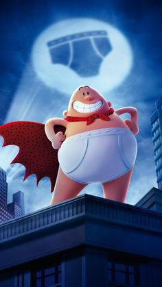 CAPTAIN UNDERPANTS POSTER FILM ART A4 A3 PRINT CINEMA MOVIE