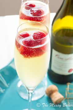 Strawberry Limoncello Sparkler